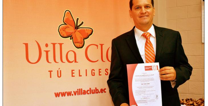 Villa Club obtiene certificación ISO 14001:2004 en Medio Ambiente