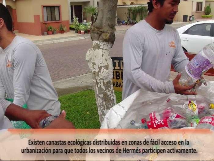 Campaña de reciclaje en Hermes